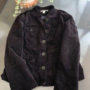 🍂🍁Kenneth Cole velvet dark brown jacket 🤎